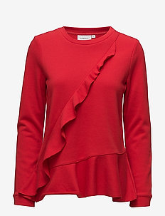Parisa Sweatshirt KNTG - swetry - racing red