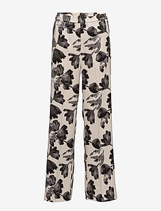 Chan Wide Pant HW - pantalons larges - watercolor flower french n