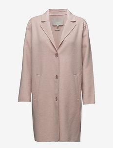Carmeo Coat - wool jackets - cameo rose