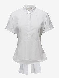 Baldwin Tie Shirt LW - shirts met korte mouwen - pure white