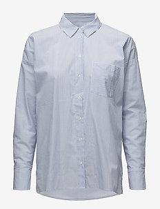 Breanna Short Shirt LW - pitkähihaiset paidat - yarn dyed blue stripes