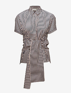 Bora Tie Shirt LW - kortermede skjorter - stripes midnight