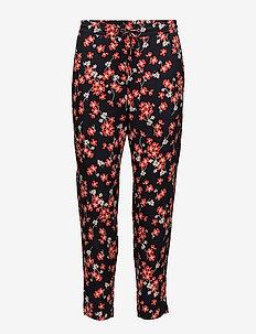 Selby Pants - NAVY FLOWER LEAF