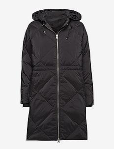 Sade Down Zip Coat OW - BLACK