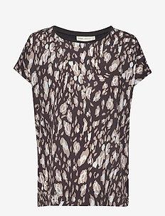 Sicily Tshirt - blouses med korte mouwen - black irregular animal