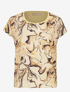 Sicily Tshirt - blouses korte mouwen - yellow marbling