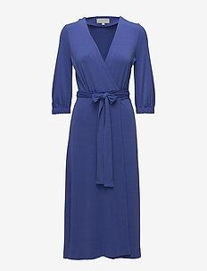Siri Wrap Dress KNTG - wrap dresses - clematis blue