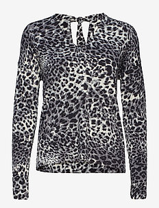 Fillucca Blouse - long sleeved blouses - leopard non