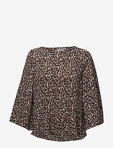 Oliana Blouse - long sleeved blouses - leopard so