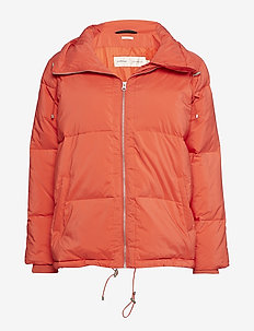 Sade Down Short Coat OW - FIERY RED