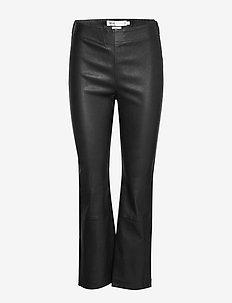 Cedar Pant - læderbukser - black