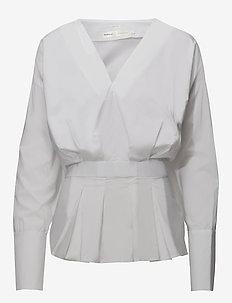 Emily Shirt - long sleeved blouses - pure white