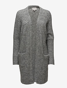 Kiki Short Cardigan - gilets - new light grey melange
