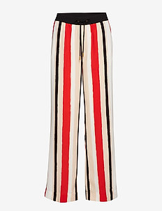 Geneva HS_18 Pant LW - wide leg trousers - painted stripe