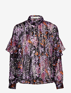 Hilma Shirt - PURPLE FLOWERS