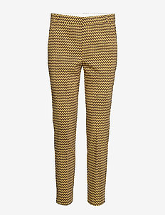 Zella Pant - slim fit broeken - brown graphic sticks