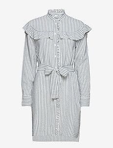 Alma Long Striped Shirt - MARINE BLUE
