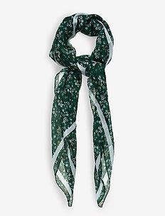 Vesta Scarf - scarves - warm green ditsy flowers