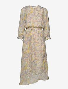 Hayden Dress - midi dresses - pastel watercolour florals