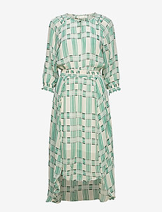Hayden Dress - midi kjoler - rose dust graphic check