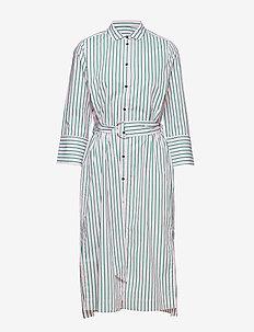 Heloise Shirt Dress - ROSE SHADOW STRIPE