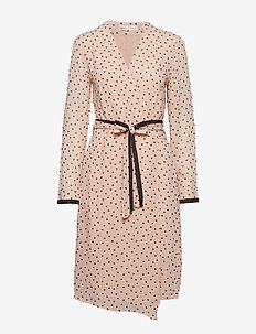 Hester Dress - ROSE DUST DOUBLE DOT