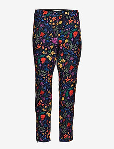 Abril Nica Pant - BLACK WATERCOLOUR FLOWERS