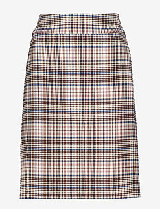 Adalia Skirt - GRAPHIC CHECK ROSE