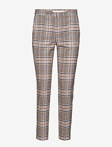 Adalia Zella Cigarette Pants - GRAPHIC CHECK ROSE