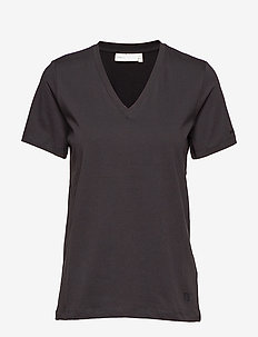 Kaila V-neck T-shirt - BLACK