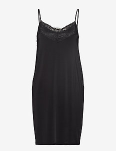Elize Slip Dress - sukienki do kolan i midi - black