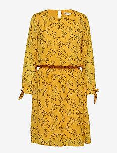 Zandra Dress - YELLOW FLORAL BRANCH