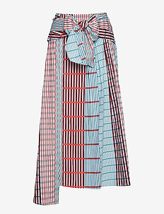 IlsaIW Skirt - MULTI CHECKS AND STRIPES