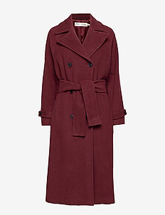 ZelieIW Raglan Coat - wool coats - russet brown
