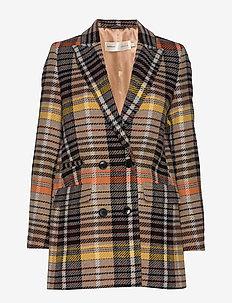 ZettaIW DB Coat - blazers - golden orange
