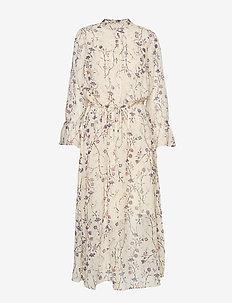 TrilbyIW Dress - FRENCH NOUGAT ASIAN FLORAL