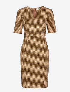 Zella Dress - BROWN GRAPHIC STICKS