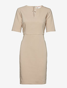 Zella Dress - midi dresses - cafe au lait