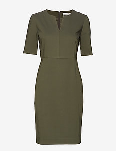 Zella Dress - OLIVE LEAF