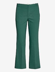 ZellaIW Kickflare Pant - raka byxor - warm green