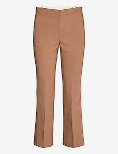 ZellaIW Kickflare Pant - bukser med lige ben - winter beige
