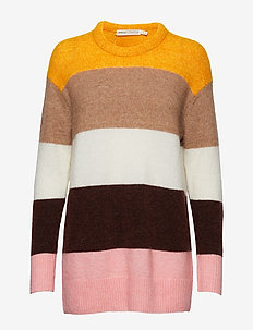 IvanaIW Colour Blocking Pullover - YELLOW COLOUR BLOCKING
