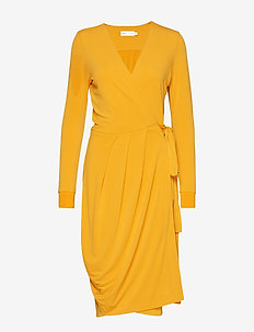 ImeldaIW Wrap Dress - SUNNY YELLOW