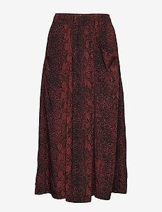 KavitaIW Skirt - RUSSET BROWN SNAKE