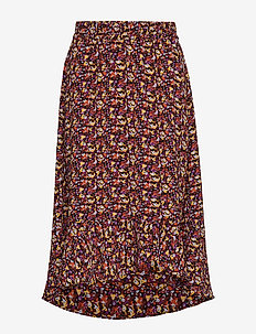 KaelIW Skirt - RUST DITSY FLOWER