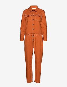 GitteIW Jumpsuit - buksedragter - rust