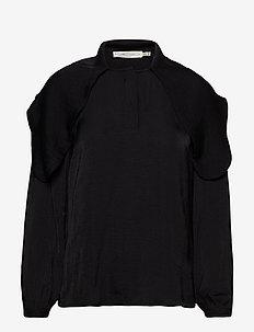 ClaraIW Scarf Blouse - bluzki z długimi rękawami - black