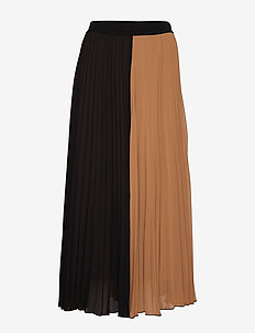 IW50 11 JasmineIW Skirt - BLACK / WARM CAMEL