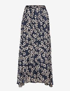 ZilmaIW Hilma Skirt - MARINE BLUE HIBISCUS FLOWER
