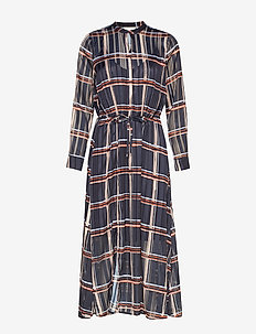 ZilmaIW Hilma Dress - MARINE BLUE CHECK